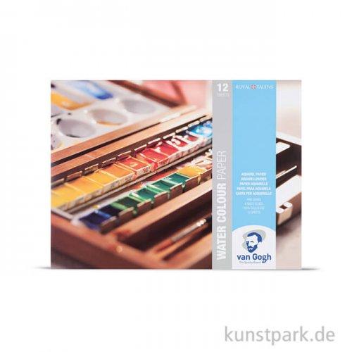 Talens VAN GOGH White Watercolour Paper Pad, 12 Blatt, 300g 24 x 32 cm
