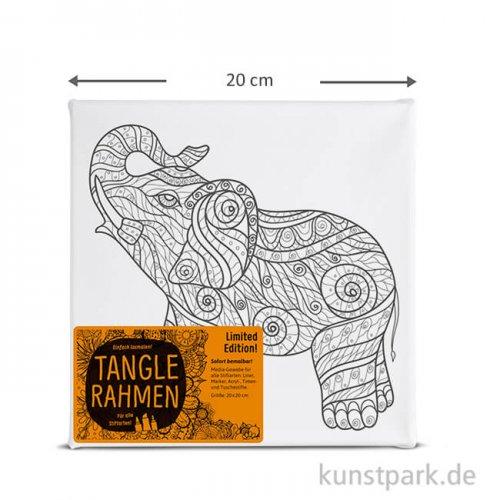 Tangle Rahmen Elefant trompetend 20x20 cm