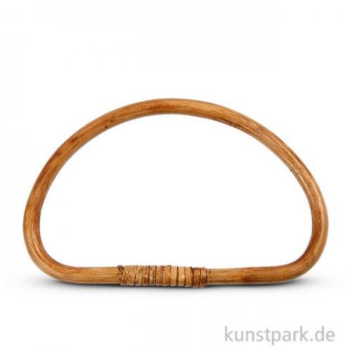 Taschengriff gebogen aus lackiertem Bambus, Größe 20x13 cm