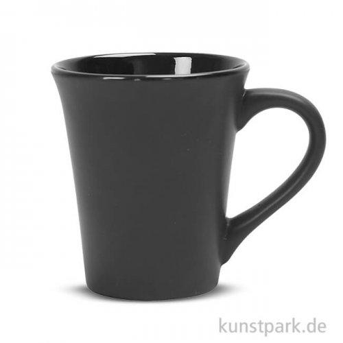 Tasse aus Porzellan - Schwarz, Höhe 10 cm