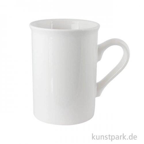 Tasse aus weißem Porzellan, Höhe 10 cm