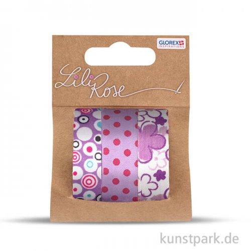 Textilbänder selbstklebend - Set Lila 3, 3x1 m