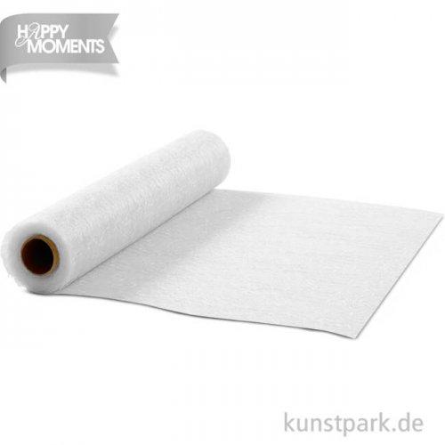Tischläufer aus imitiertem Netzstoff, 35 cm x 10m - weiß