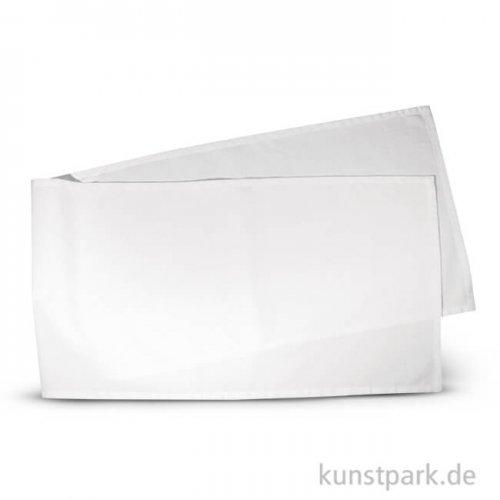 Tischläufer weiß aus Baumwolle, 40x160 cm