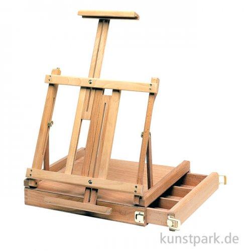Tischstaffelei mit Schubkasten aus Buchenholz