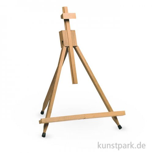 Faltbare Tischstaffelei aus geöltem Buchenholz, Bildhöhe bis 60 cm