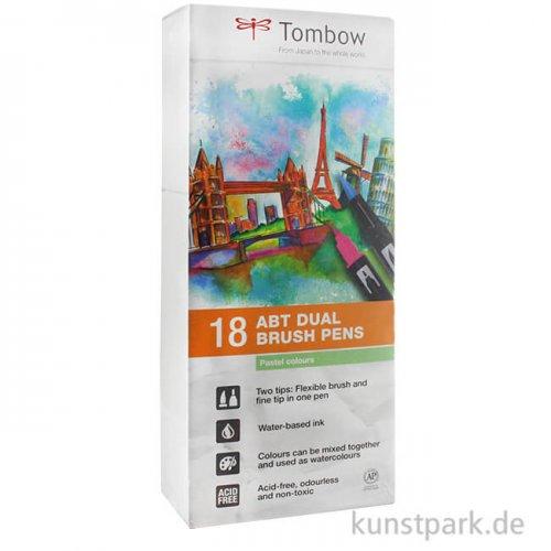 Tombow Dual Brush Pen - Set 18 Pastellfarben