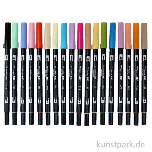 Tombow Dual Brush Pen - Set 18 Sekundärfarben