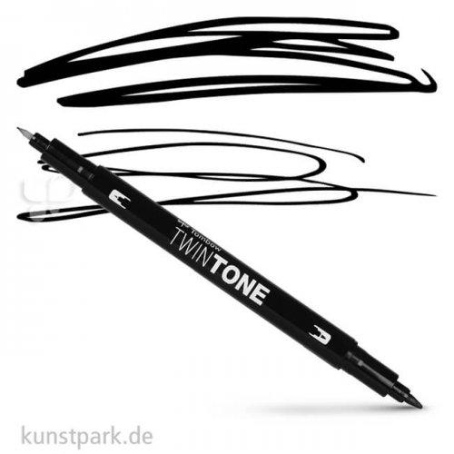 Tombow Doppelfasermaler TwinTone Einzelstift | Black