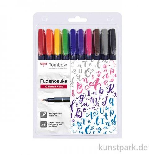 Tombow Fudenosuke Brush Pen - 10er Set