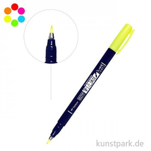 Tombow Fudenosuke Brush Pen - Neon Farben