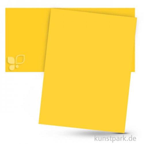 Tonpapier 50x70 cm, 10 Bogen, 130g 10 Bogen | Bananengelb