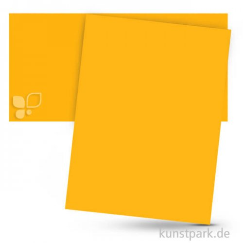 Tonpapier 50x70 cm, 10 Bogen, 130g 10 Bogen   Dunkelgelb