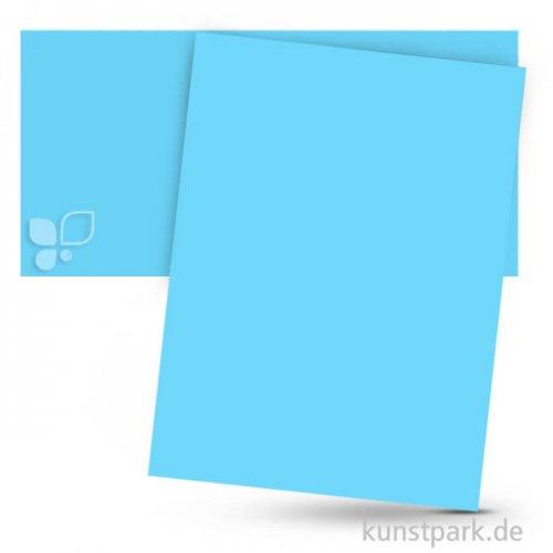 Tonpapier 50x70 cm, 10 Bogen, 130g 10 Bogen | Himmelblau