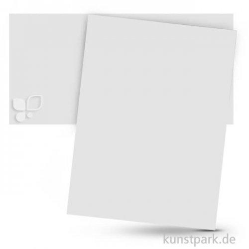 Tonpapier 50x70 cm, 10 Bogen, 130g 10 Bogen   Weiß