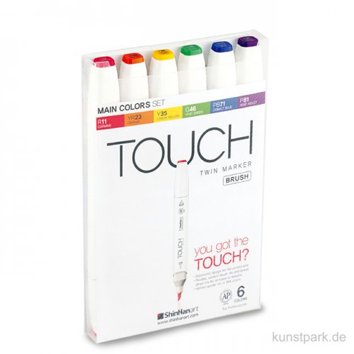 TOUCH BRUSH Marker Set 6er - Main Colors