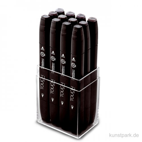 TOUCH Twin Marker Set 12er - Warm Greys