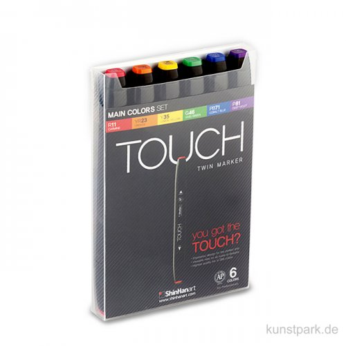 TOUCH Twin Marker Set 6er - Main Colors