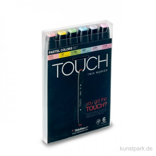 TOUCH Twin Marker Set 6er - Pastel Colors
