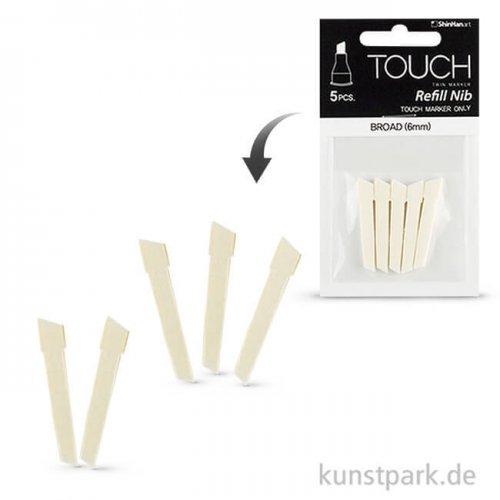 TOUCH Twin Marker Spitzen broad 5 Stück