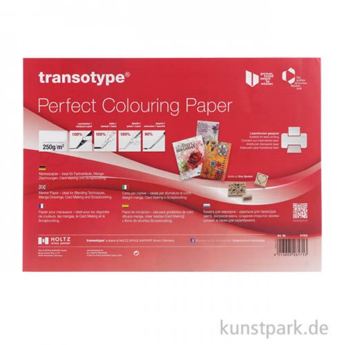 Transotype Perfect Colouring Paper 250g DIN A4 (10 Blatt)