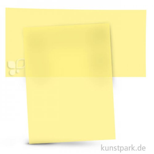 Transparentpapier 50,5x70 cm, 1 Rolle, 115g 1 Rolle | Hellgelb