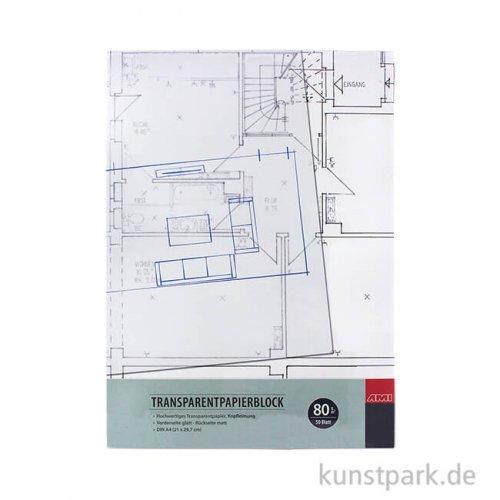 Transparentpapierblock, 50 Blatt, 80 g DIN A3
