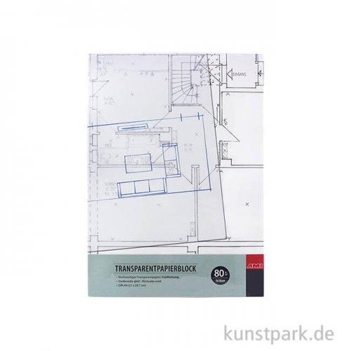 Transparentpapierblock, 50 Blatt, 80 g DIN A4