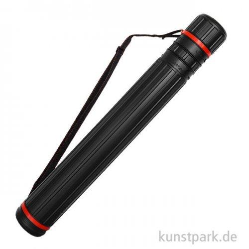 Transportrolle aus schwarzem Kunststoff, 77 - 125 cm, d 10,5 cm