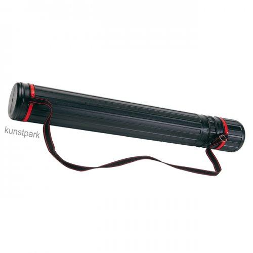 Transportrolle schwarz, Durchmesser 8,5 cm, L 60-100 cm