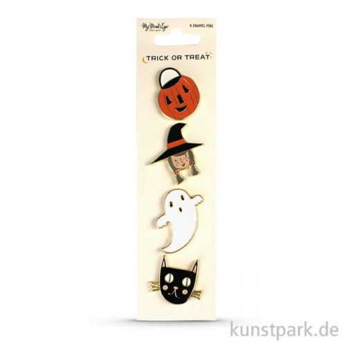 Trick or Treat Collection - Emaille Pins, 4 Stück