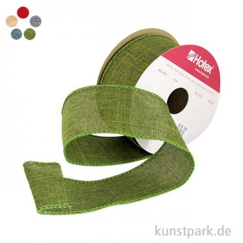 Uniband Leinen mit Draht - 40 mm x 2 m