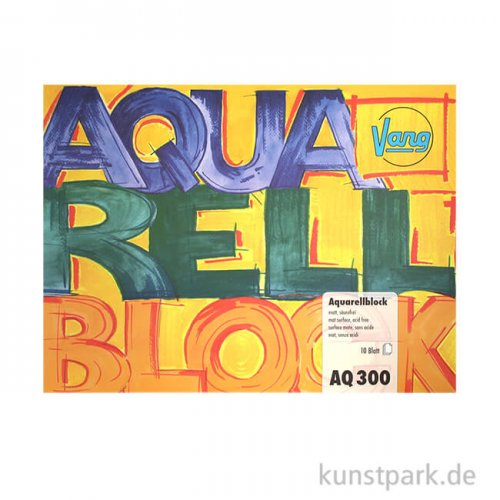 Vang Aquarellblock, 10 Blatt, 300g rauh 24 x 32 cm