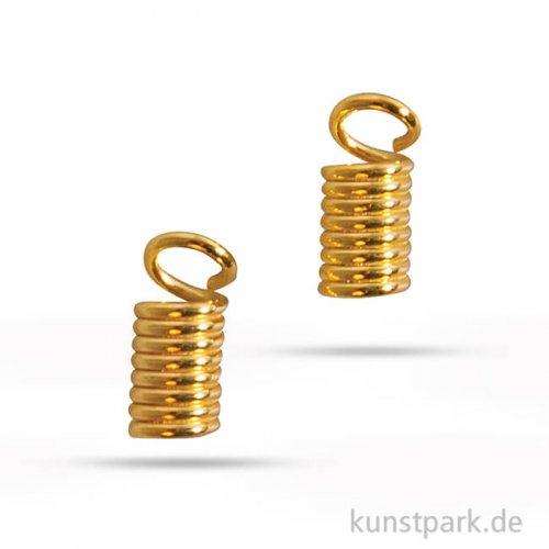 Verbinder für Lederriemen, Durchmesser 2 mm - Gold