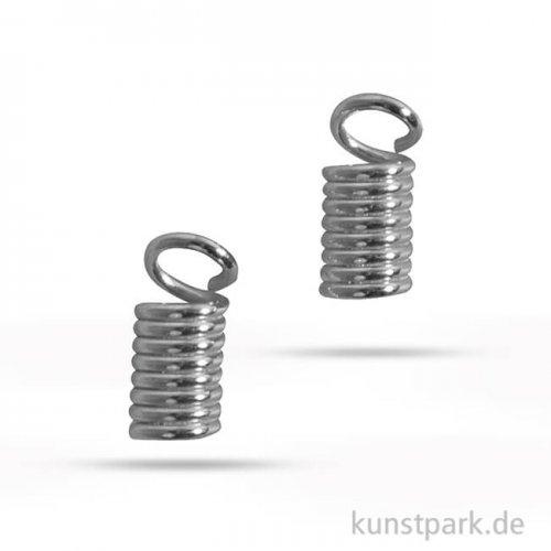 Verbinder für Lederriemen, Durchmesser 2 mm - Platin