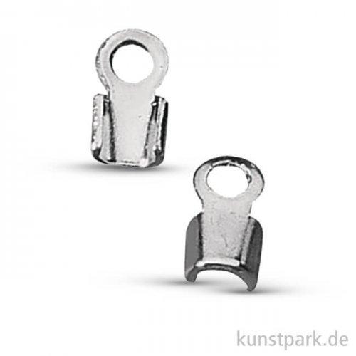 Verbinder für Lederriemen - Platin, 1,5mm Durchmesser, 4 Stück