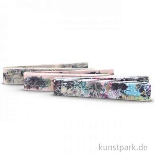 Vintage Stoffbänder - Natur 3-er Set, 1,5 cm x 1 m, selbstklebend