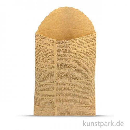 Vintage Tüten - Book aus Kraftpapier, 7 x 10,2 cm, 6 Stück