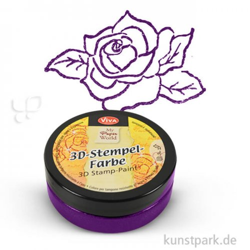 Viva Decor 3D-Stempelfarbe 50 ml | Violett-Metallic