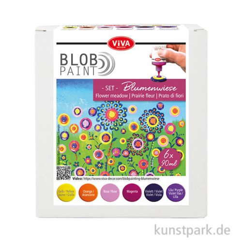 Viva Decor Blob Paint Set - Blumenwiese