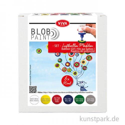 Viva Decor Blob Paint Set - Luftballon-Mädchen, 6 x 90 ml