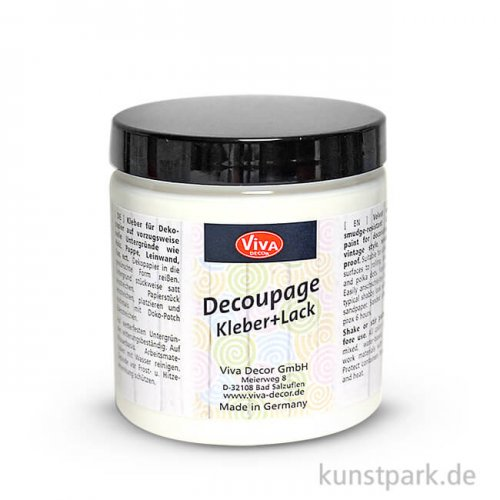 Viva Decor Decoupage Kleber & Lack 250 ml - transparent