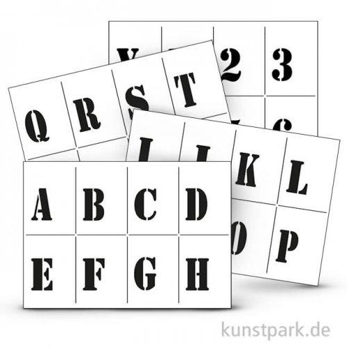 Viva Decor Universal-Schablonen-Set A4 - Alphabet & Zahlen, 5-tlg