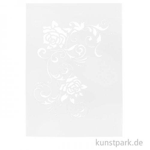 Viva Decor Universal-Schablone 20x25 cm - Filigrane Blüten