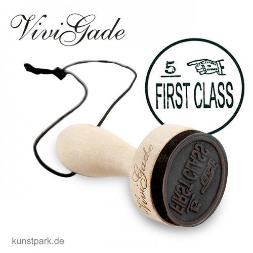 Vivi Gade Copenhagen - Holzstempel - First Class, Durchmesser 30 mm