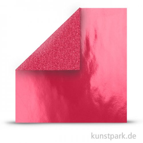 Vivi Gade Designpapier mit Glitzer - Rot, 30,5x30,5 cm, 2 Blatt