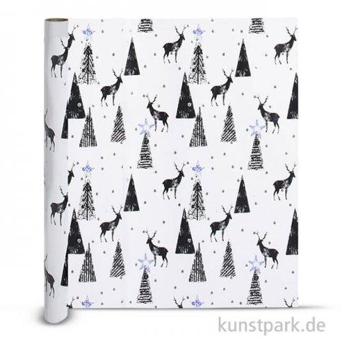 Vivi Gade Geschenkpapier - Hirsch, Breite 50 cm, Länge 100 m