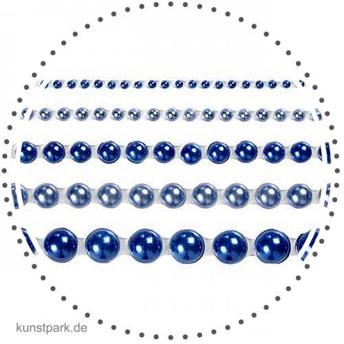 Vivi Gade London - 140 Halbperlen, selbstklebend, Perlmuttglanz blau