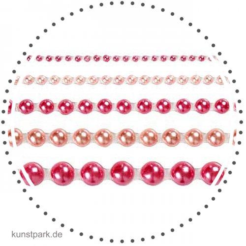 Vivi Gade Skagen - 140 Halbperlen selbstklebend, Perlmuttglanz - Pink