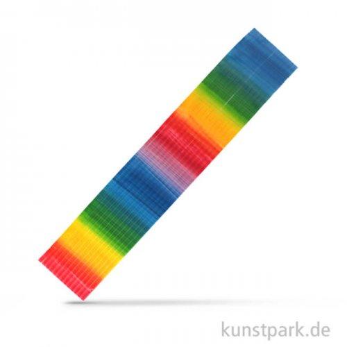 Wachs-Regenbogenflachstreifen, 220x3 mm, 13 Stück